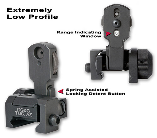 GG&G MAD AR-15 Back Up Iron Sight BUIS Ranging Aperture GGG-1006RA 813157000102