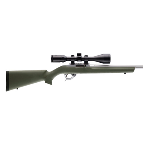 """Hogue OverMolded Rifle Stock Ruger 10/22 .920"""" Barrel Channel OD Green 22210 743108222102"""