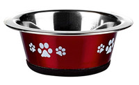Classic Pet Products Posh Paws Cat Dish, 240 ml, Red