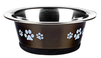 Classic Pet Products Posh Paws Cat Dish, 240 ml, Graphite