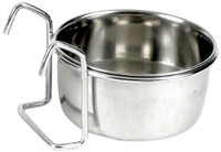 Classic Pet Products Hook-on 150ml Stainless Steel Coop Cup