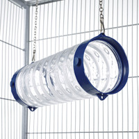 Clear Straight Ferret Play Tube With Chains - Blue End