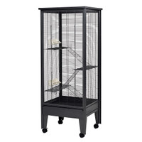 All Metal Chew Proof Tall Chinchilla Cage Grey