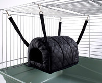 Cuddle Up Rat Chinchilla Igloo Quilted Black