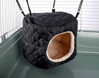 HUGE Rodent-Hive Rat Ferret Toy: Quilted Black