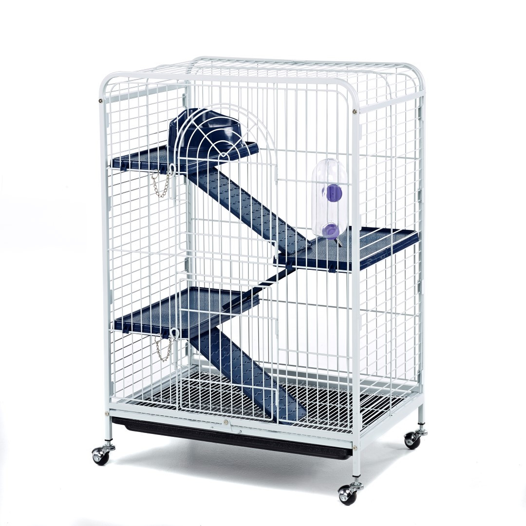 blenheim rat cage with accessories 93cm white little pet warehouse. Black Bedroom Furniture Sets. Home Design Ideas
