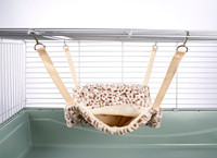 Fluffy Lined Hammock With Pouch: Cheetah Print