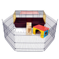 Indoor Rabbit 100 Cage with Run: Ideal for Rabbits & Guinea Pigs