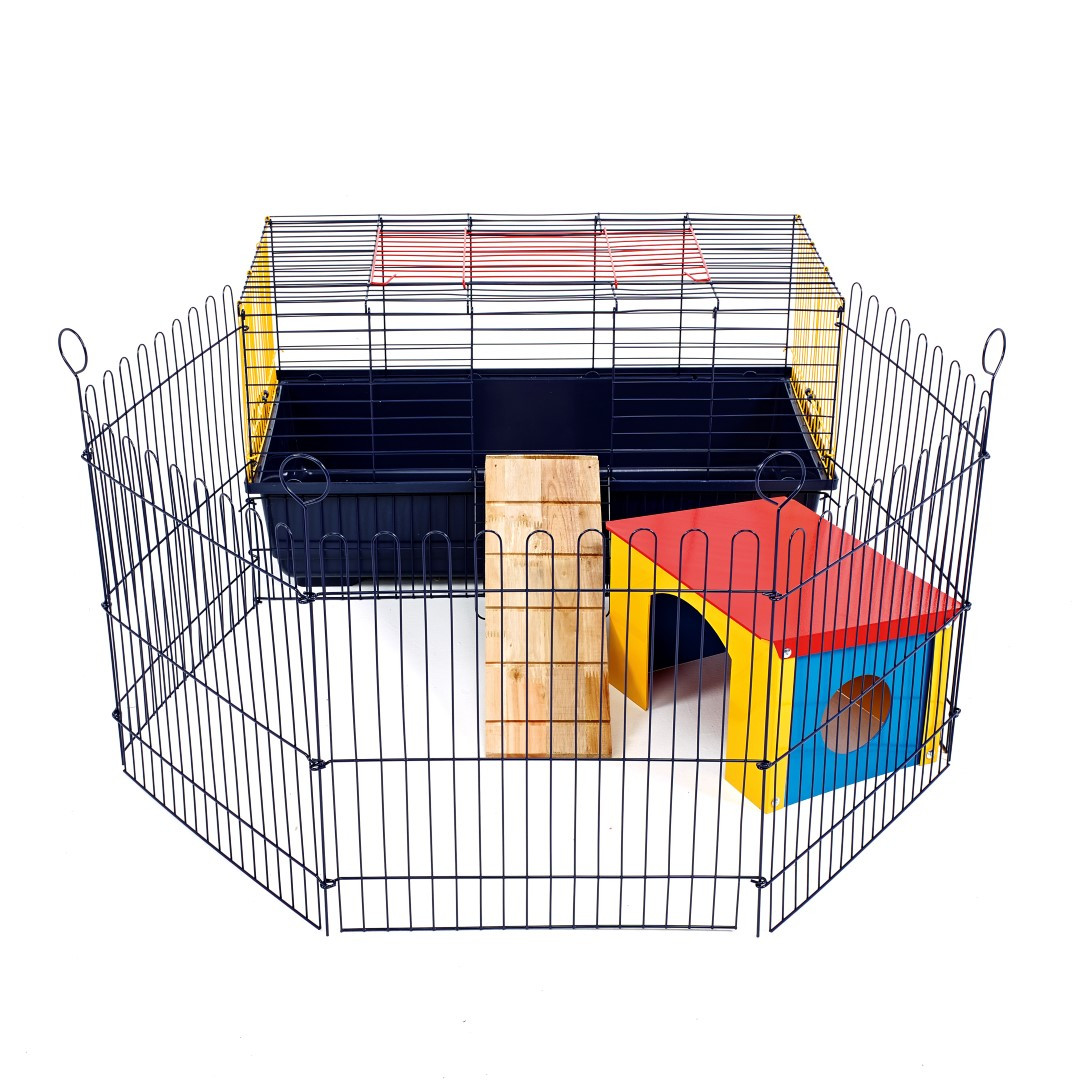 indoor rabbit 80 cage with run ideal for rabbits guinea