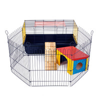 Indoor Rabbit 80 Cage with Run: Ideal for Rabbits & Guinea Pigs