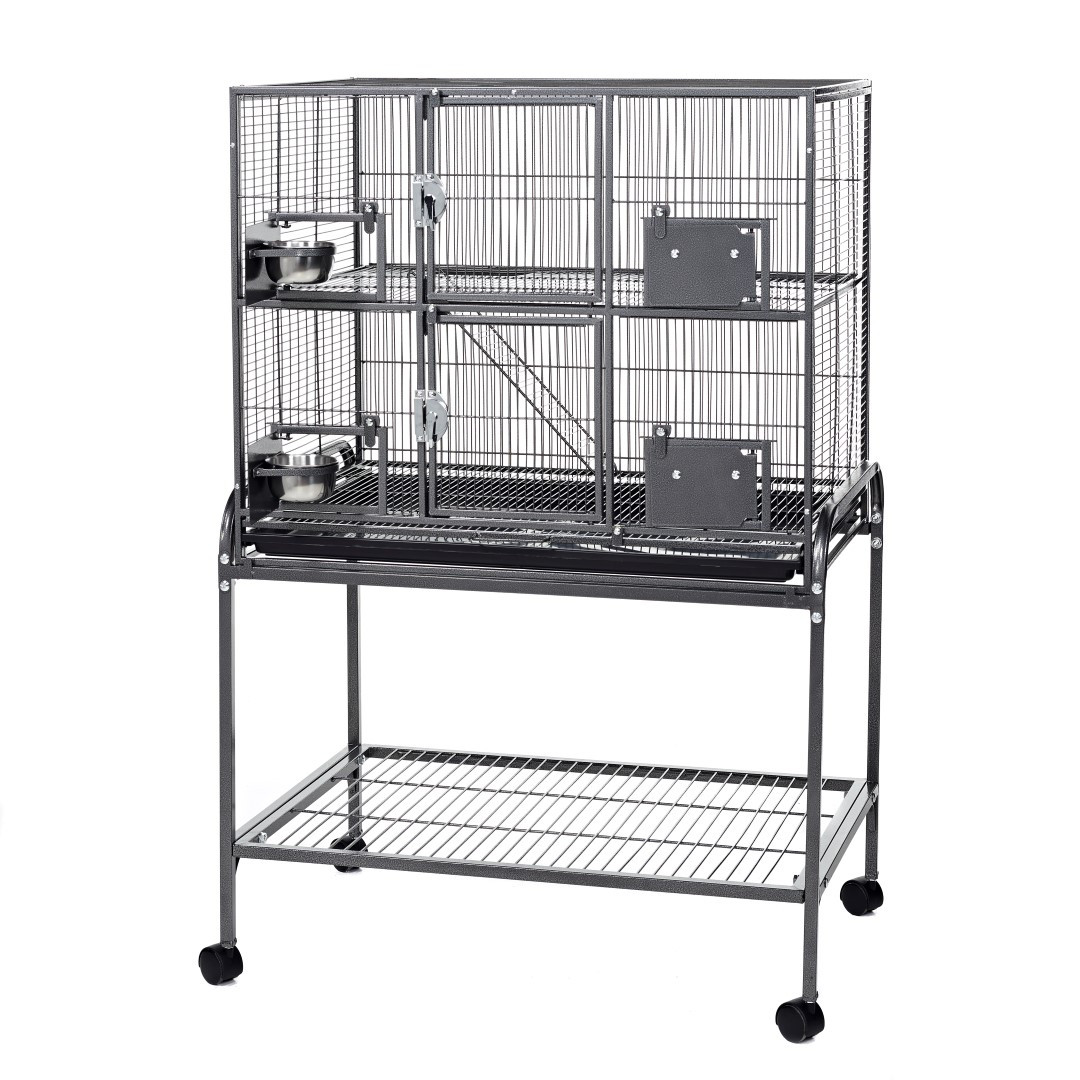 little friends double metal rat chinchilla ferret cage on stand little pet warehouse. Black Bedroom Furniture Sets. Home Design Ideas
