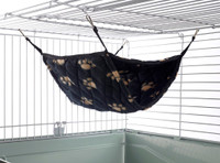 Giant Double Bunkbed Hammock Black Paw Print