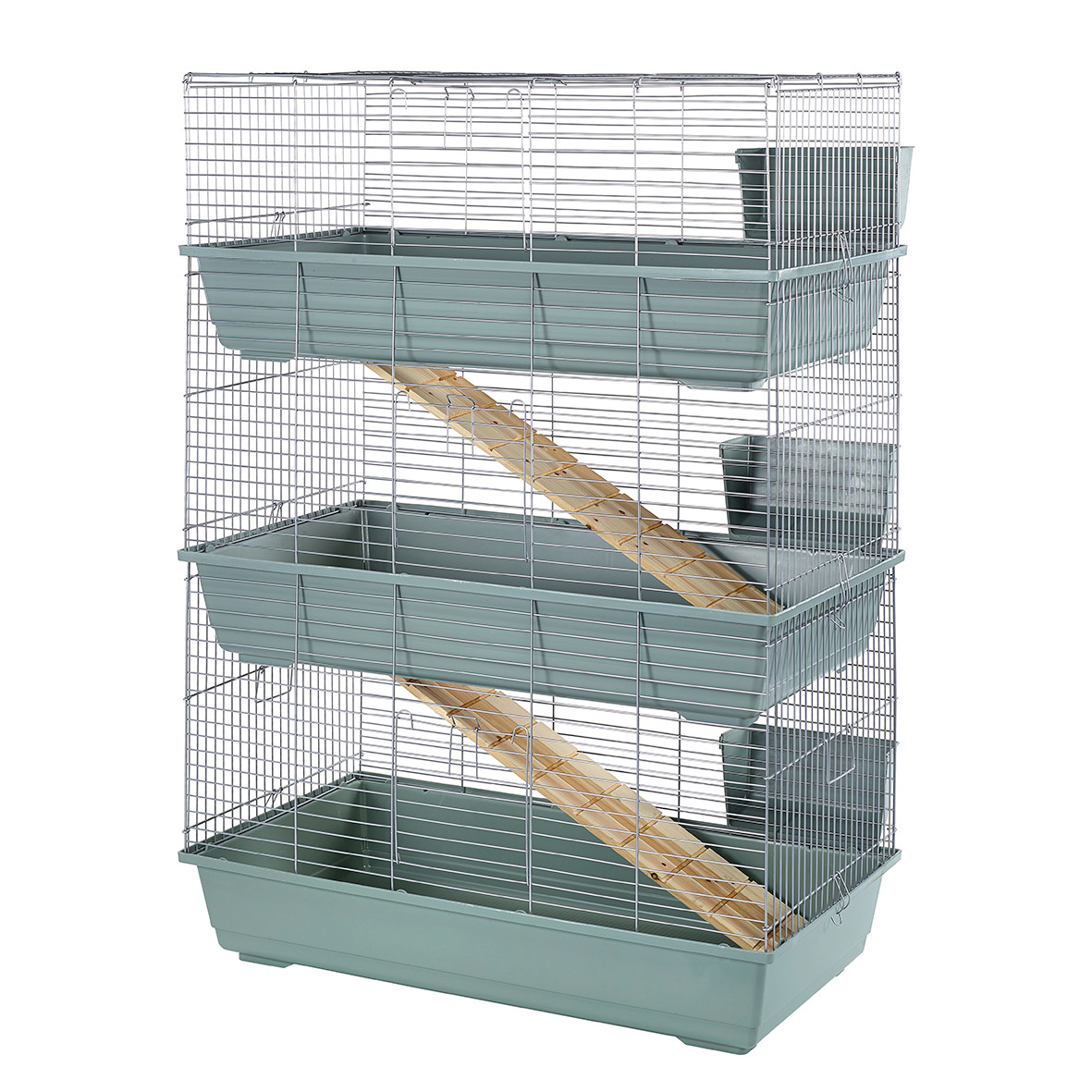 rabbit 100 triple cage indoor for rabbits guinea pigs. Black Bedroom Furniture Sets. Home Design Ideas