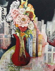 """The Red Vase""  Artist's Glicee Print"