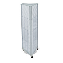 "Three-Sided Pegboard Tower Floor Display on Wheeled Base. Panel Size: 16""W x 60""H"