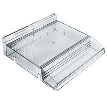 "Modular Adjustable Cosmetic Tray (Clear) 12"" Wide with Tester Tray"