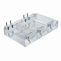 Three Compartment Cosmetic Tray