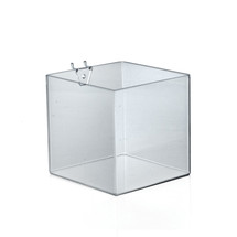 "6"" Cube Bin for Pegboard or Slatwall"