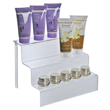 "Three-Tier Counter Step Display: 12""W x 8.5""D x 8.75""H"