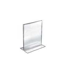 "5.5""W x 8.5""H Double-Foot Two Sided Sign Holder"