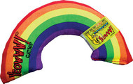 This bright, fun rainbow toy for cats is stuffed with organic catnip of the highest quality. Cats love to rub on it, kick it, hug it, and chew on it, for hours of fun.