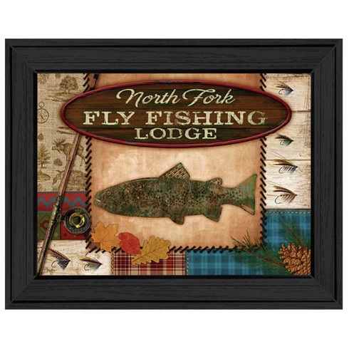 Mol926a 405 fly fishing lodge trendy decor 4 u for Fly fishing decor