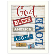 MA1091-712WHT-God-Bless-America-12x16