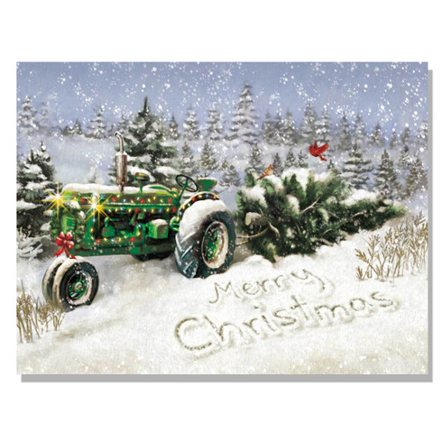64171 C Quot Christmas Tree Tractor Quot Trendy Decor 4 U
