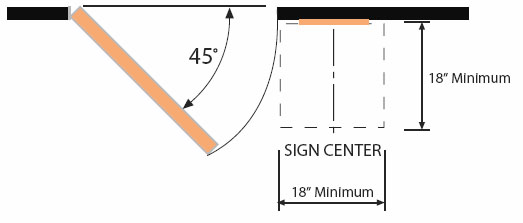 Bathroom Sign Mounting Height ada sign installation guidelines & requirements | ada central