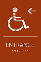 Entrance Left ADA Sign