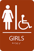 ADA Girls Accessible Restroom Sign