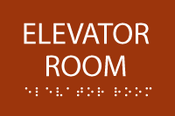 Elevator Room ADA Sign