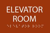 Elevator Room ADA Sign