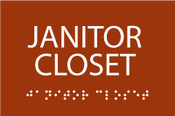 Janitor Closet ADA Sign