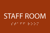 ADA Staff Room Sign