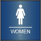 Curved Women's Restroom ADA Sign