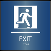 Curved ADA Exit Sign