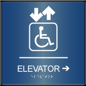 Curved ADA Elevator Sign
