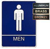 Men's ADA Restroom Metal Plaque