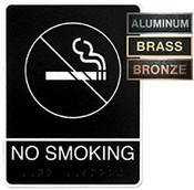 No Smoking Metal ADA Plaque