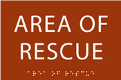 Area of Rescue ADA Sign