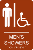 Men's Showers ADA Sign
