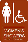 Women's Showers ADA Sign