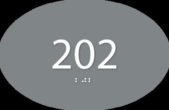 Custom ADA Oval Room Number Sign