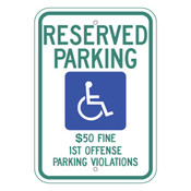 Alabama Handicap Reserved Parking Sign
