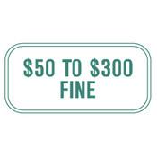 Missouri Handicap Parking Fine Sign - White
