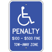 Virginia Handicap Reserved Parking Sign