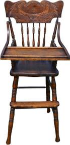 2943 Oak Press Back Children's High Chair
