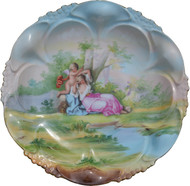 2960 Hand Painted Austrian Victorian Plate Signed