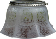 2962 Early Gas Lamp Decorated Ruffle Shade